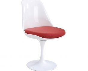 juego-de-2-sillas-blancas-con-asiento-rojo